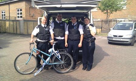Police bikes arrive
